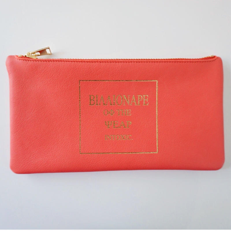 完売【新作】leather billfold billionaire coral
