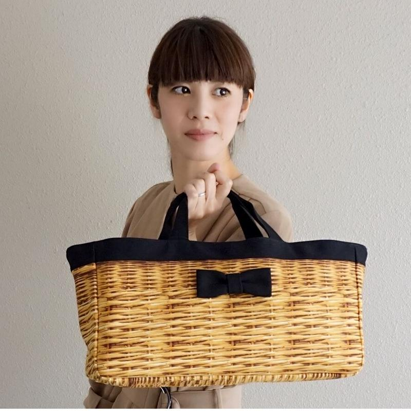 【再入荷】raya fake basket black