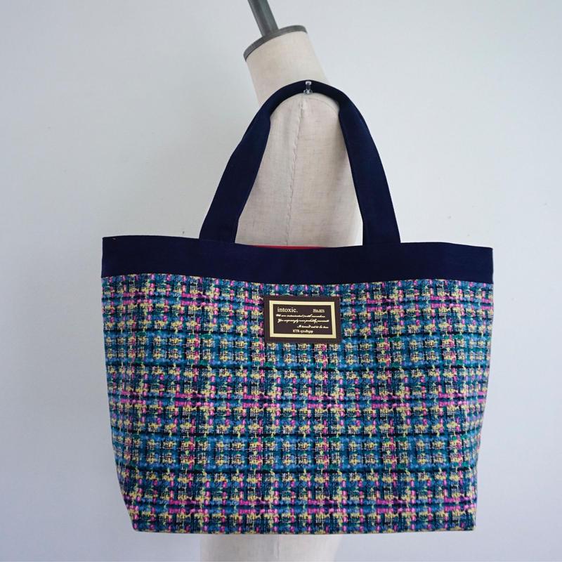 準備中【新作】basic tote summer tweed navy blue