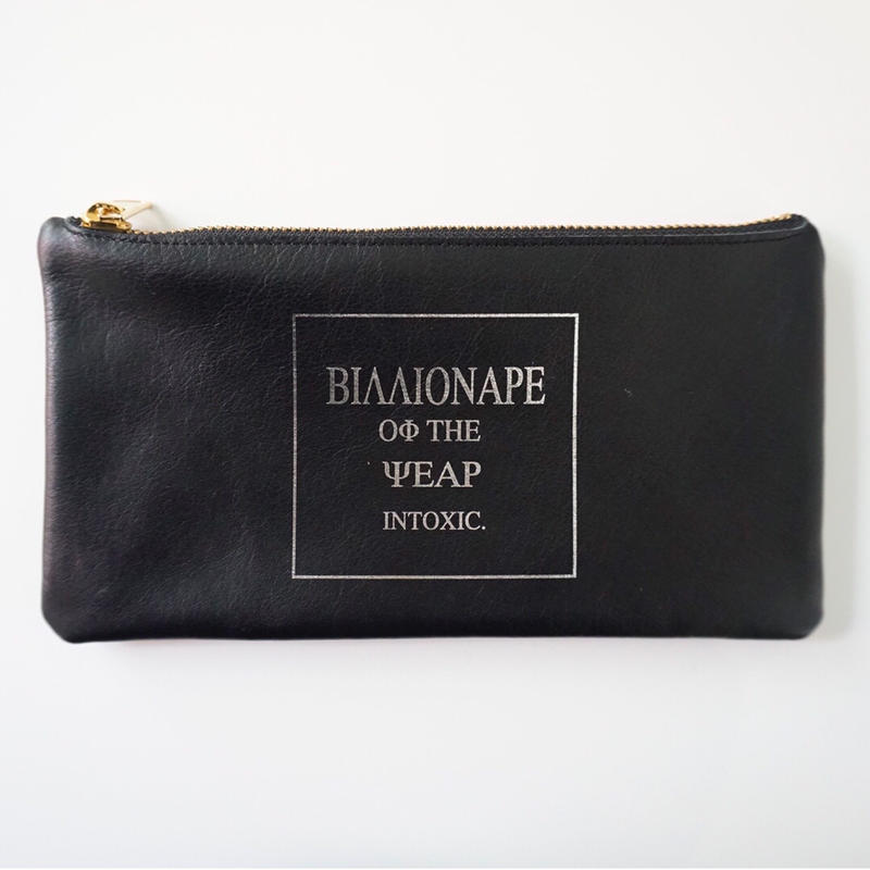 完売【新作】leather billfold billionaire black