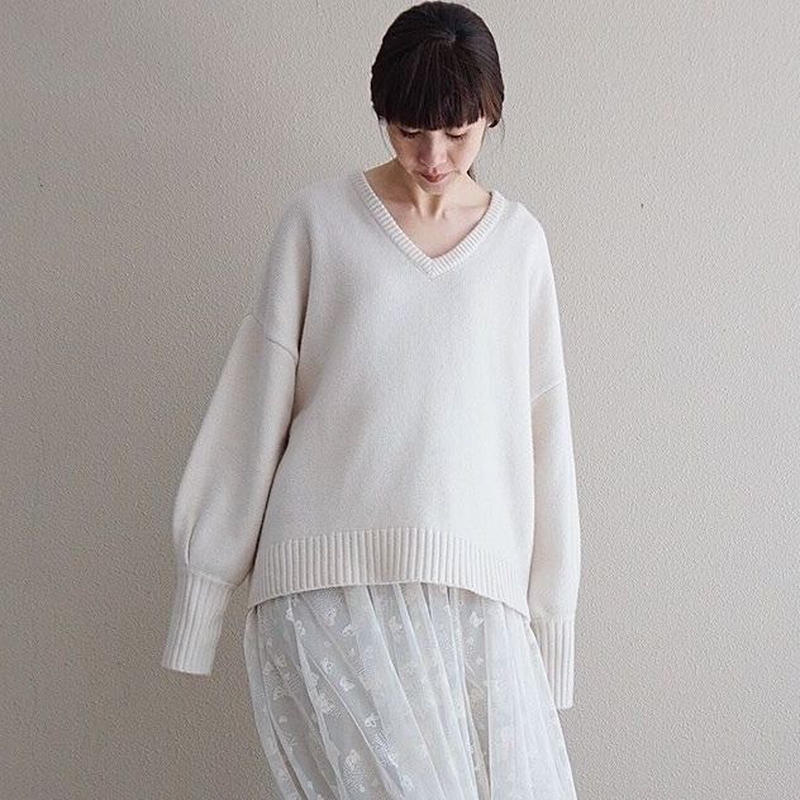 予約終了【先行予約】thomas magpie Vneck knit (2193701)