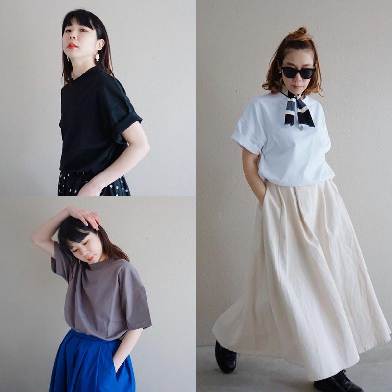 【春夏新作】thomas magpie crew neck pullover short t-shirt muji