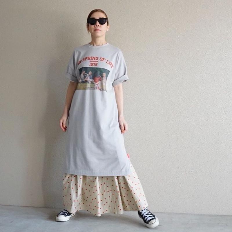 """【予約終了】thomas magpie """"the spring of life"""" long  T-shirt grey"""