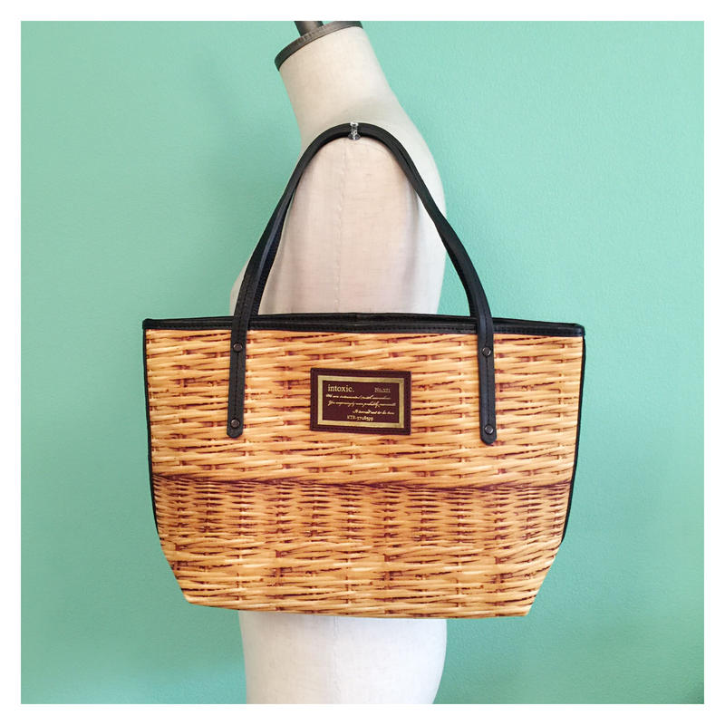 holiday tote small fake basket