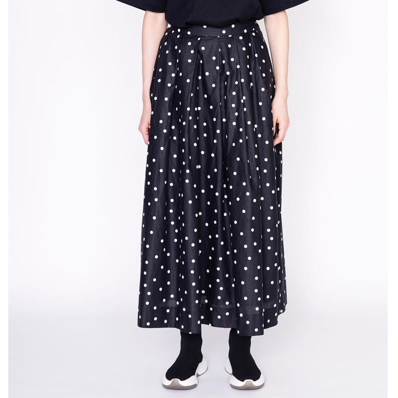 【予約終了】thomas magpie long skirt dots black