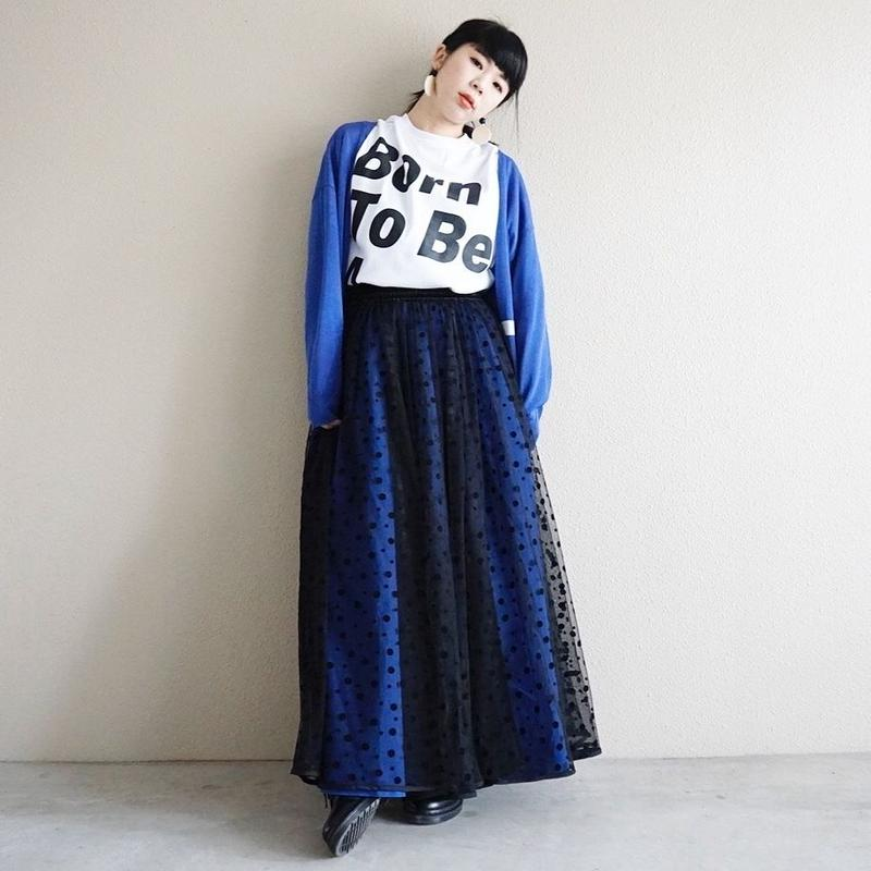【予約終了】thomas magpie long tulle skirt dots