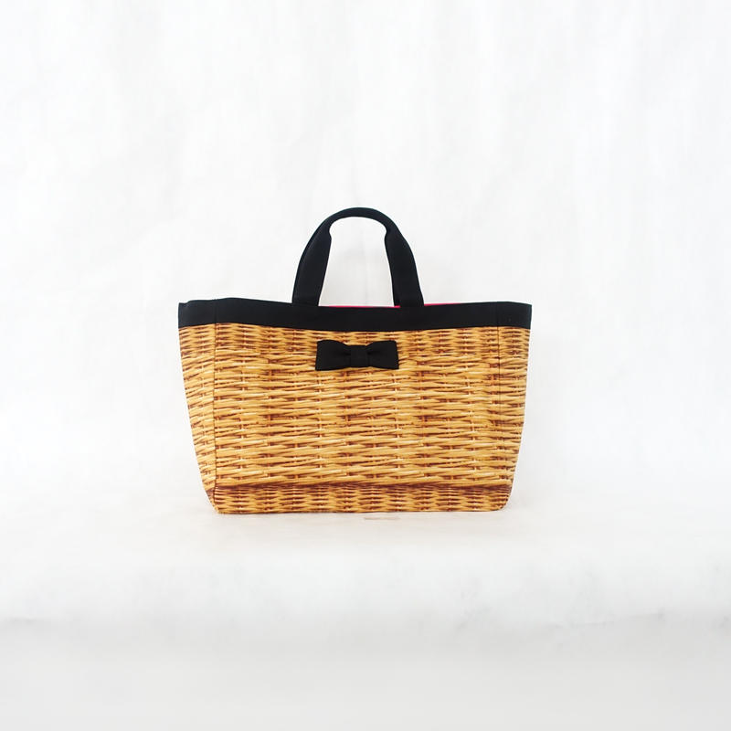 town mini tote fake basket black