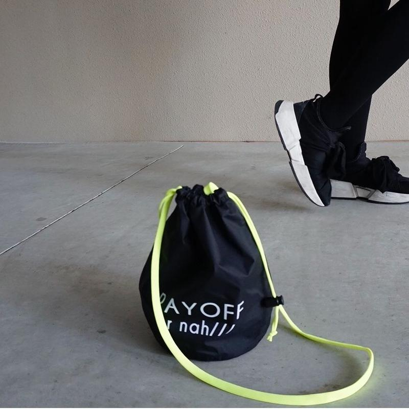 【新作】drawstring bag black