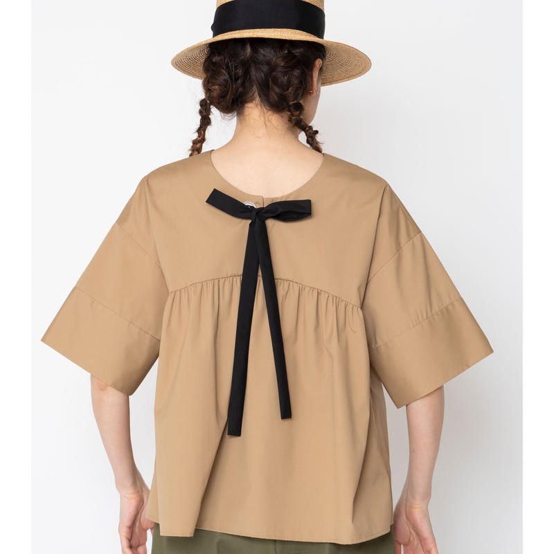 【予約終了】thomas magpie bow  blouse beige