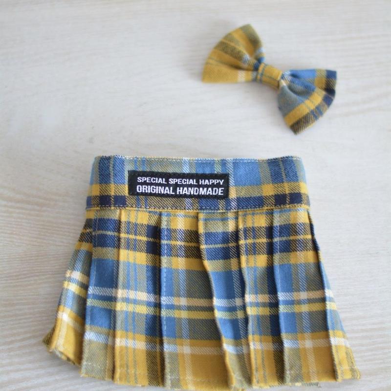 タックスカートとリボンセット(黄色)