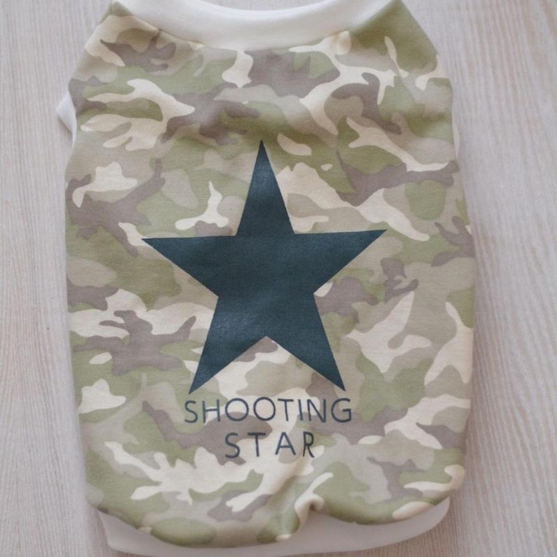 星プリント(カーキー)迷彩シャツ