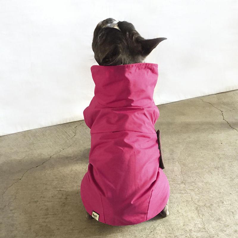 大きな丸衿のコート(薔薇色)/ High Collar Winter Coat  (Rose)