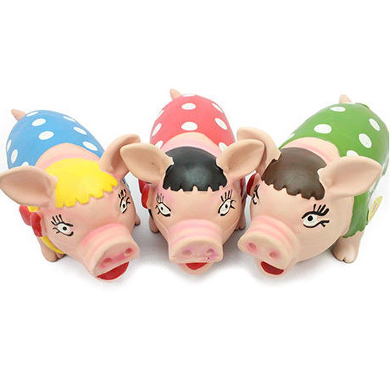 イタリアからやってきた犬のおもちゃ(豚)