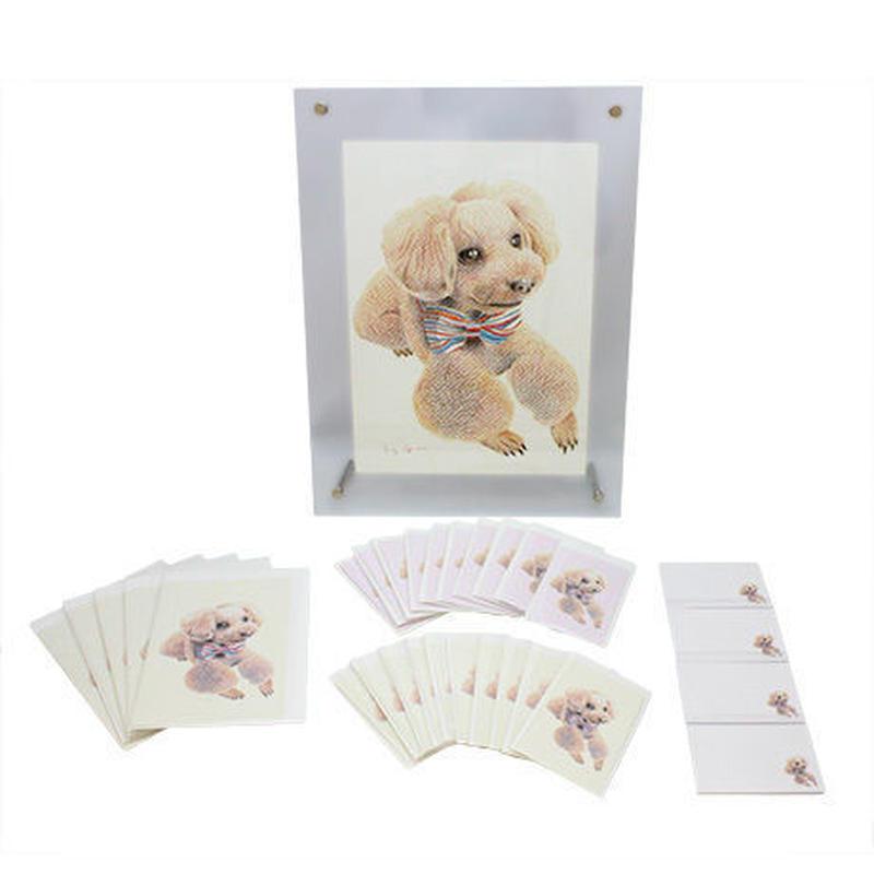 愛犬ステーショナリー(愛犬イラスト&メッセージカードセット)(オーダーメイド)