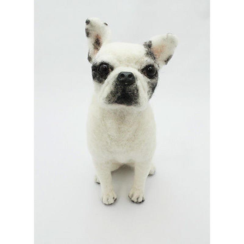 ウール―シュシュ 羊毛フェルトで作る「私だけのワンちゃん」(オーダーメイド)・短毛犬B4