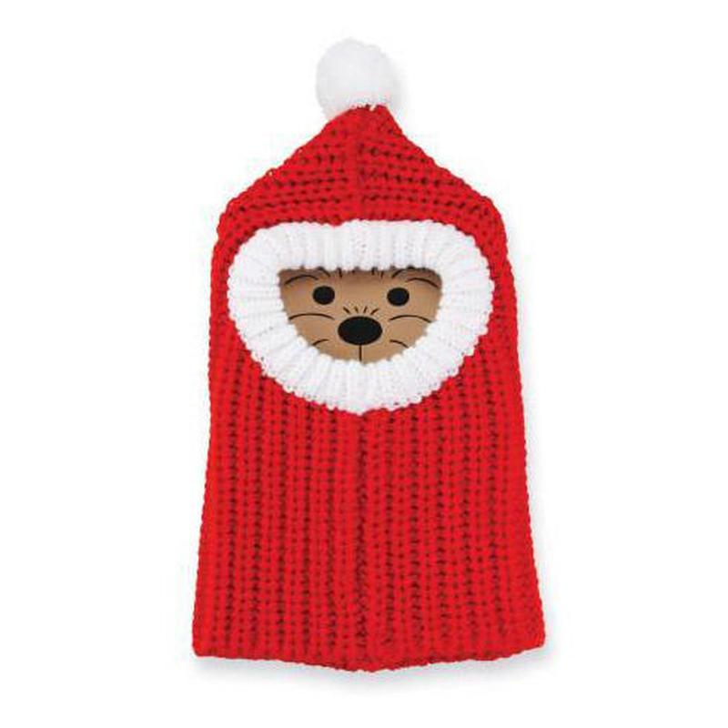 犬のクリスマスニット帽