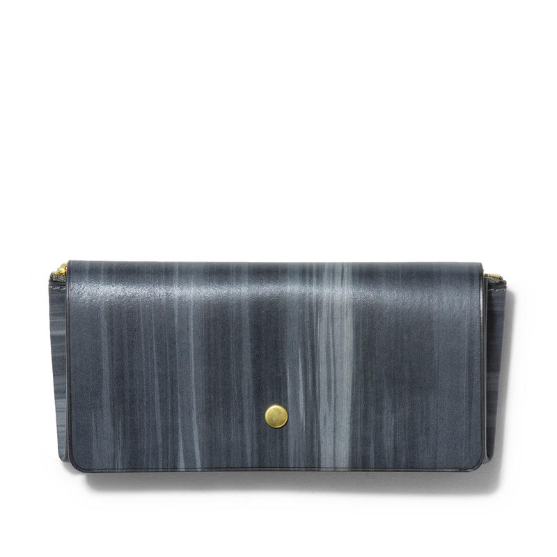 """ ORIGAMI WALLET "" Long / Brush Gray"