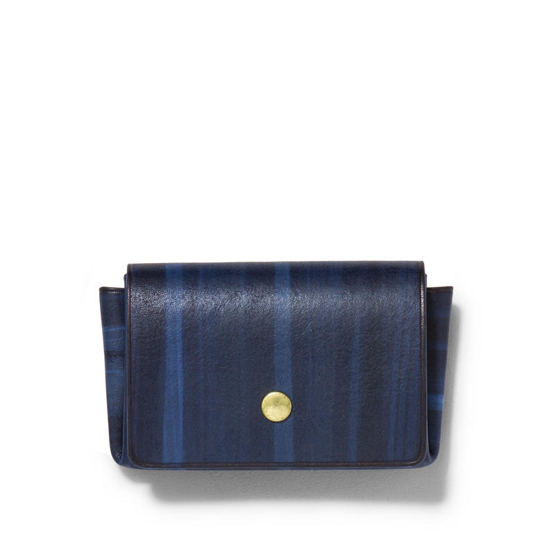 """ ORIGAMI WALLET "" Minimal / Brush Navy"