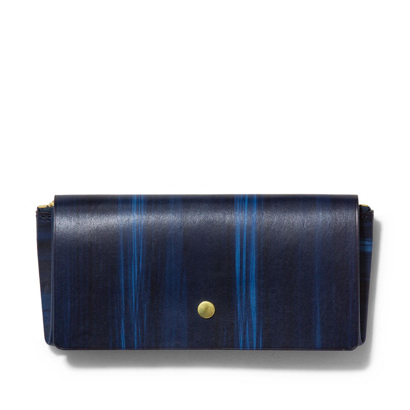 """ ORIGAMI WALLET "" Long / Brush Navy"