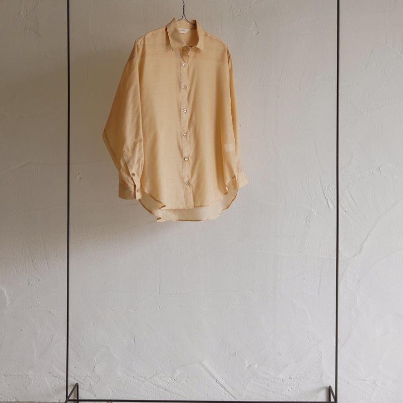 silk cotton organdy shirt