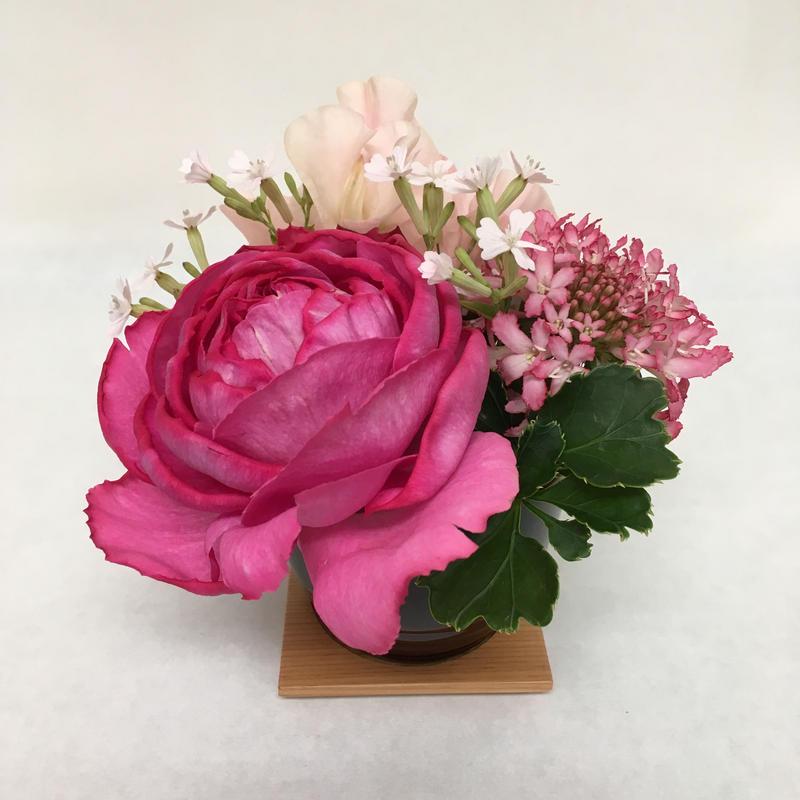 《花と漆器と色》ありがとう