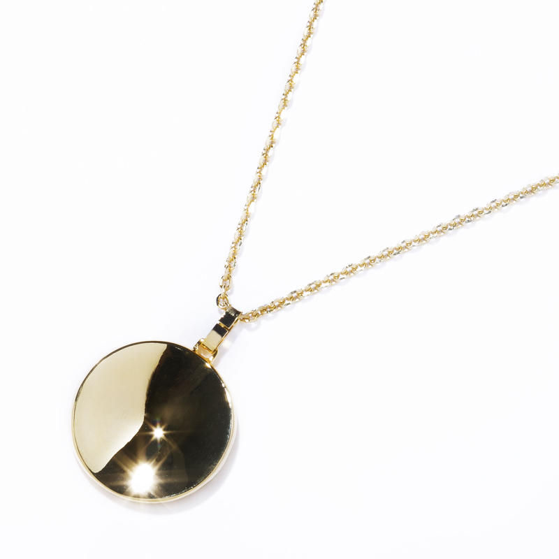 dimple necklace / silver,gold
