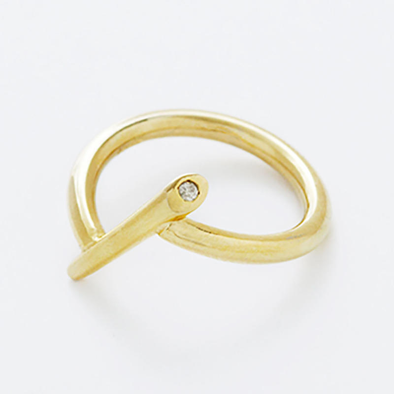 pin pinky ring / silver,gold