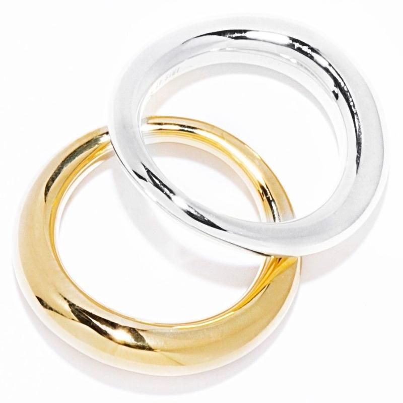 W warp ring / silver&gold