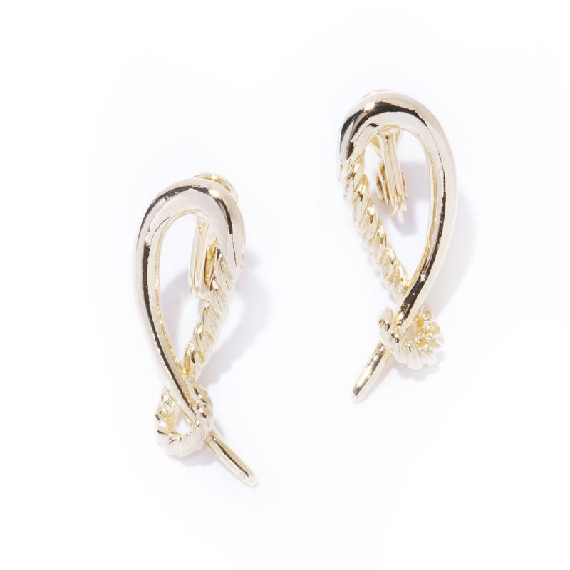 hook earring / silver,gold