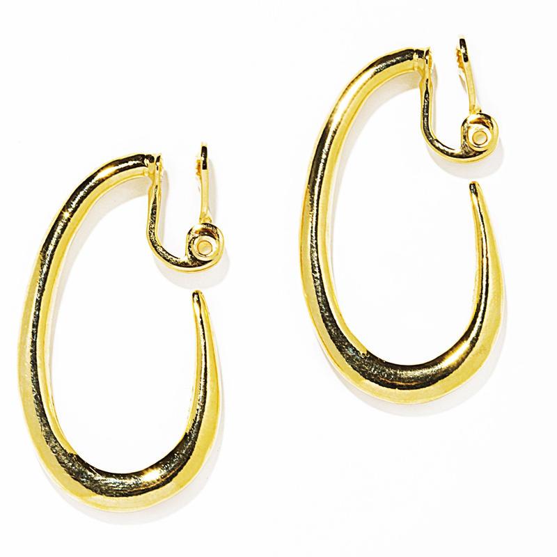 ivy hoop earring / silver,gold