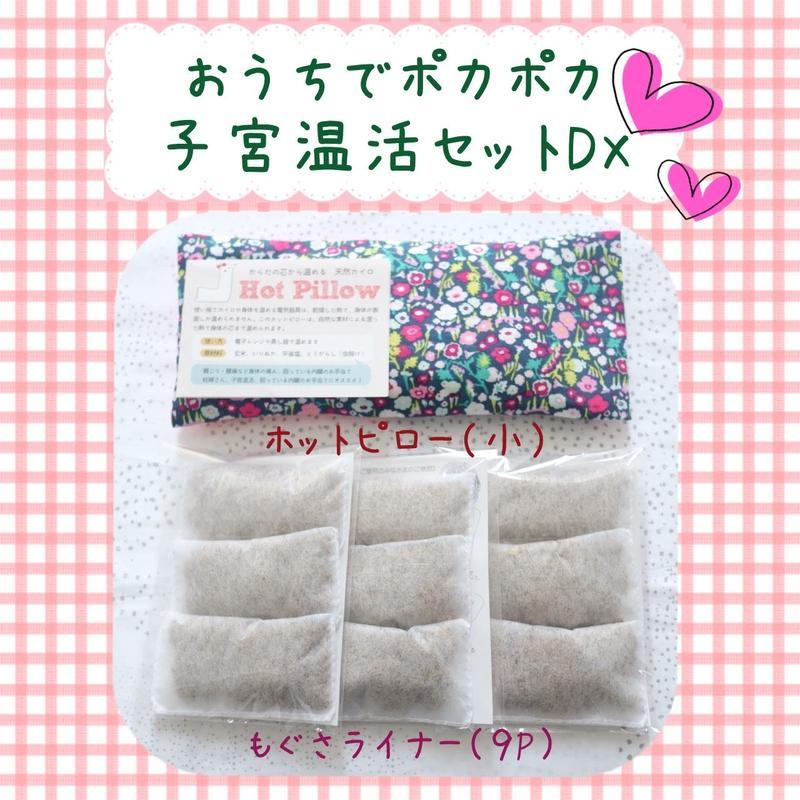 【セットがお得】ホットピロー子宮温活セットDX ◆もぐさライナー9P+ホットピロー小◆