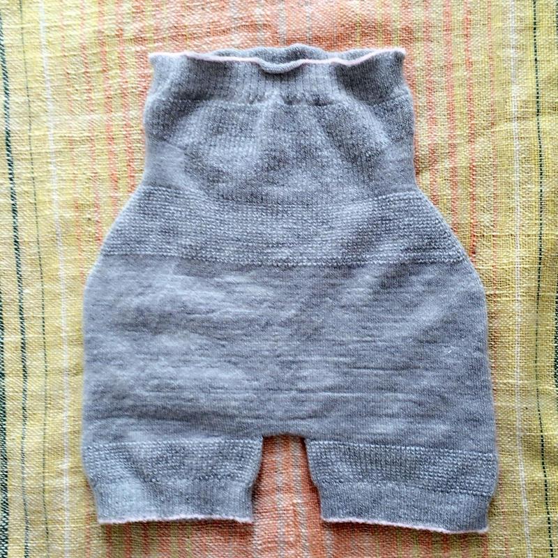 子ども用 はらまきパンツ シルク&ウールM ライトグレー(90〜120㎝)