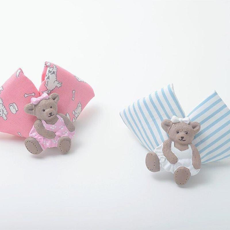 テディベアリボンバレッタ/pink