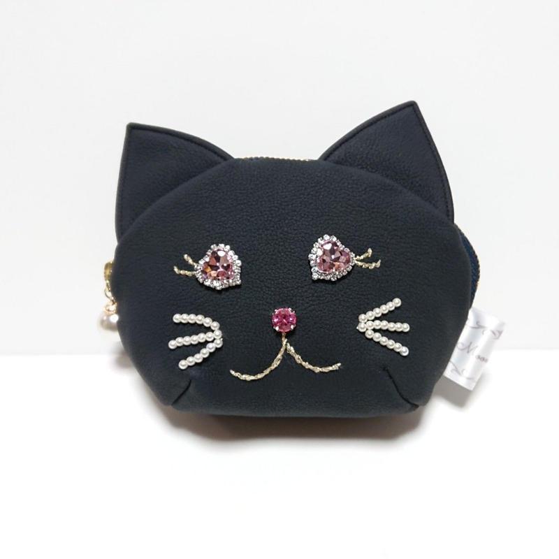 猫ちゃんポーチ/ネイビー