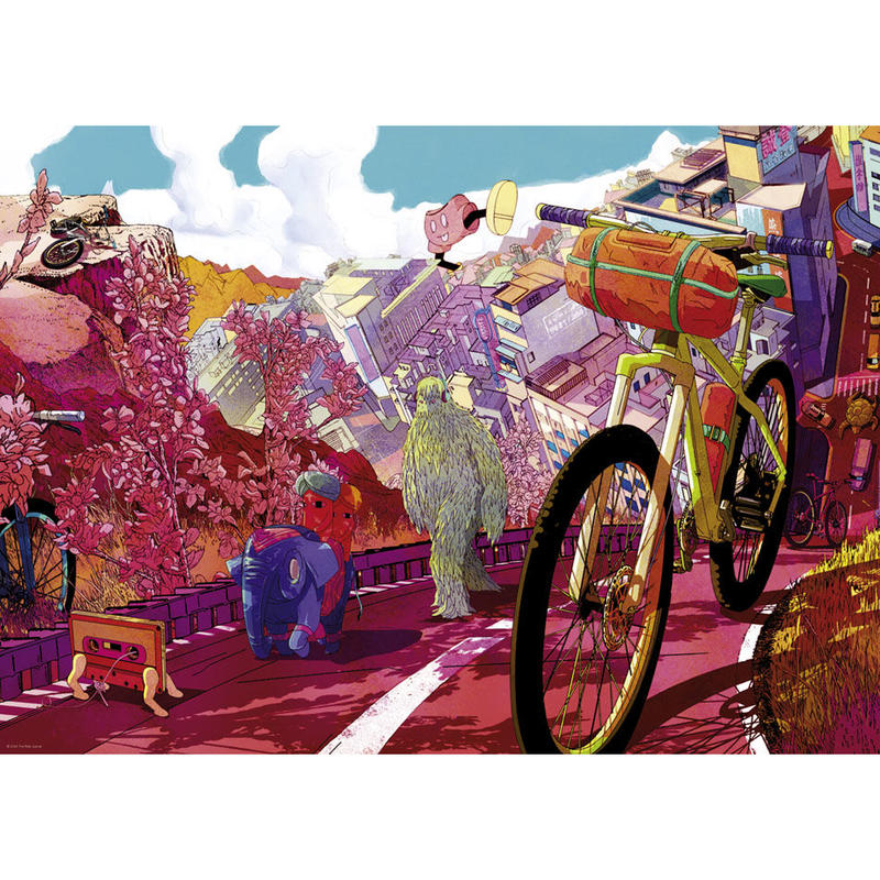 29677  Shan Jiang : Bike Art - Tour in Pink