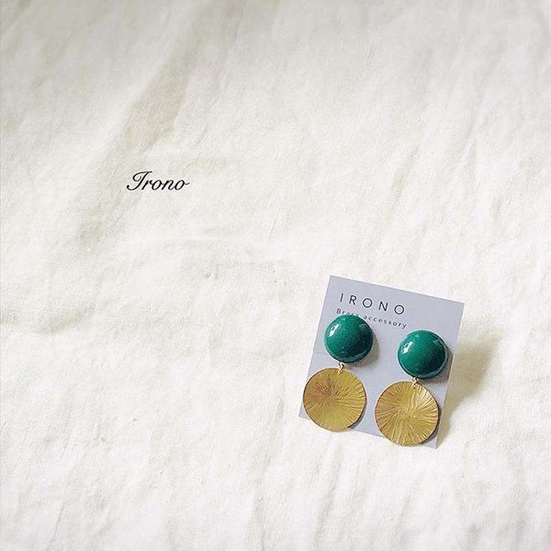 GREEN & sun brass ピアス / イヤリング
