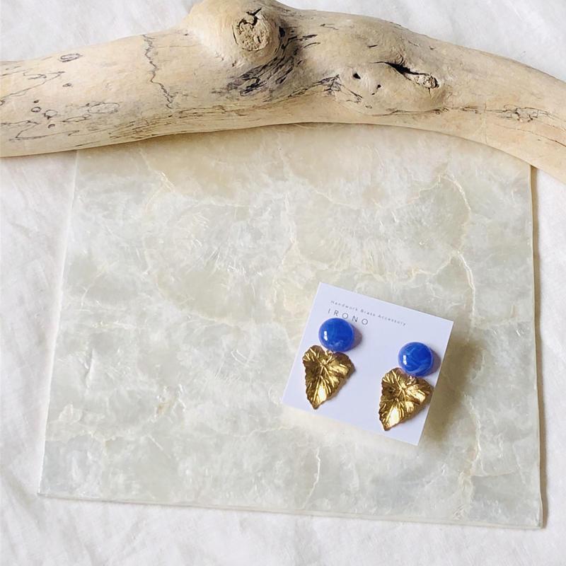 vintage blue × import reef ピアス /  イヤリング
