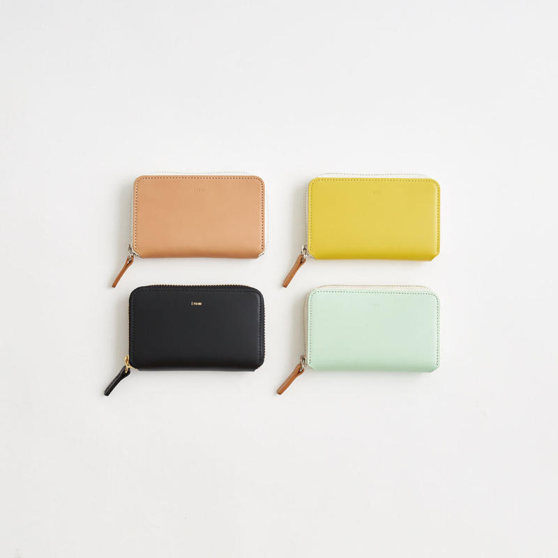 pop-up mini wallet  ( black / nude / yellow / mint )
