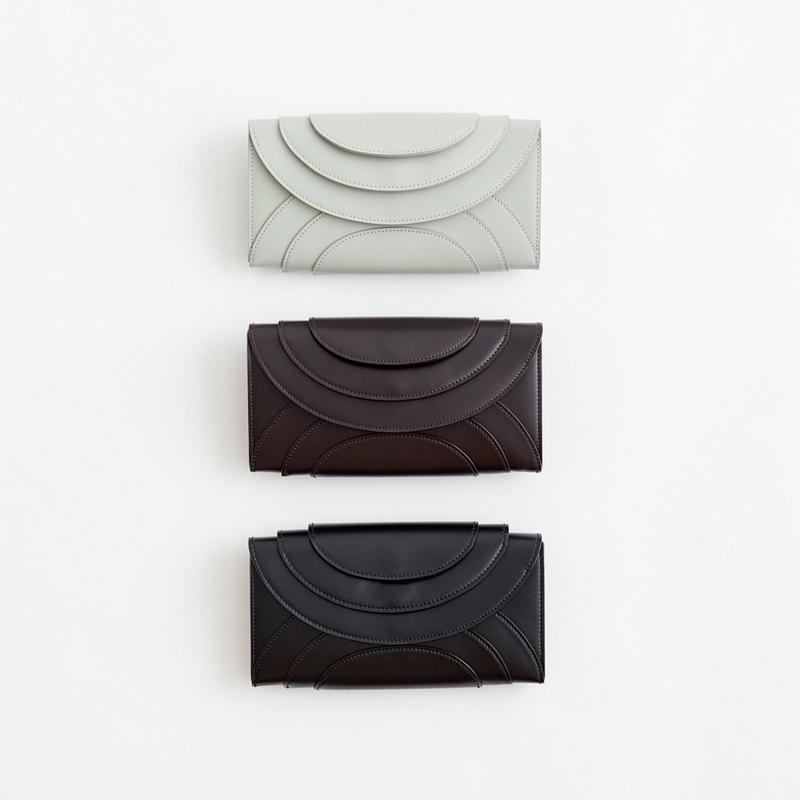 FOLD 3F WALLET  ( GRAY/D.BROWN/BLACK)