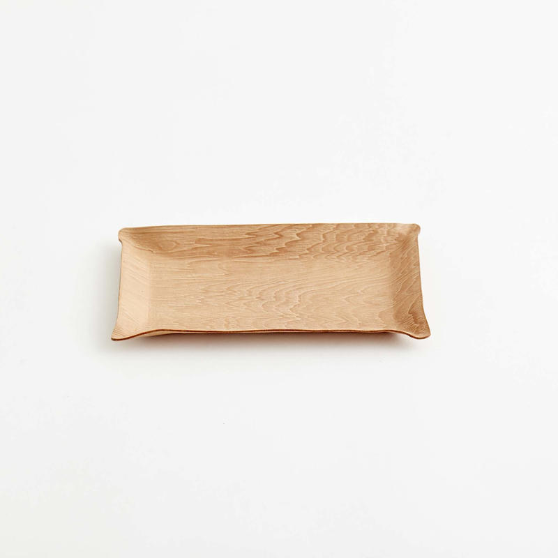 """plywood"" leather tray"