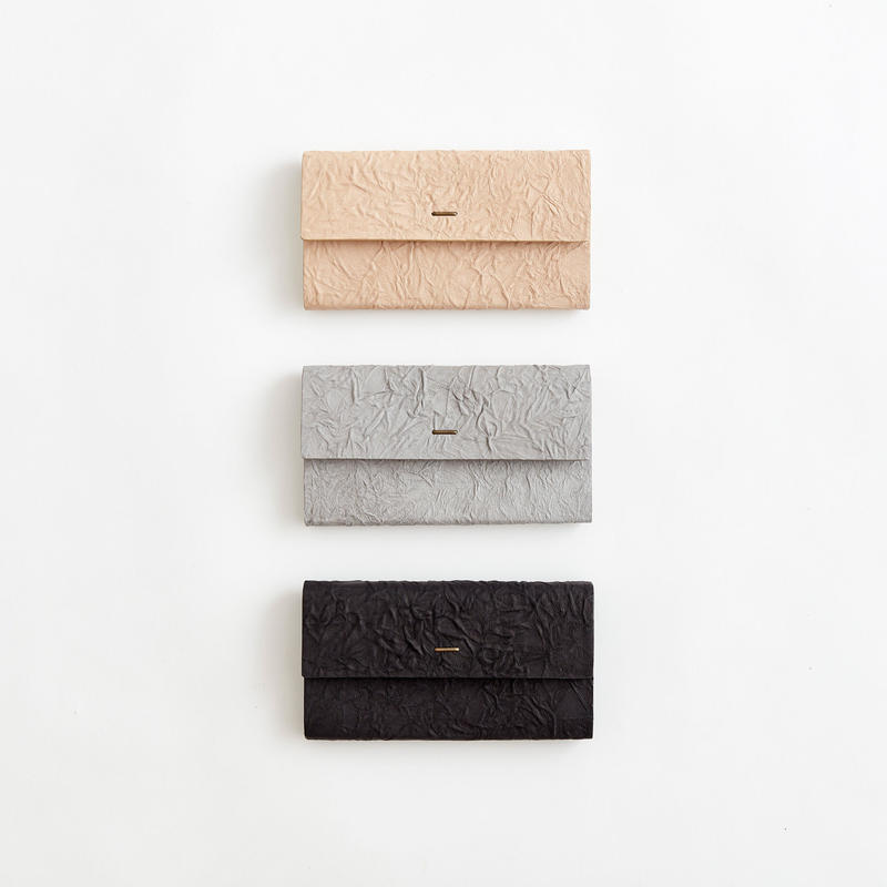 paper long wallet (black / gray / l.brown)