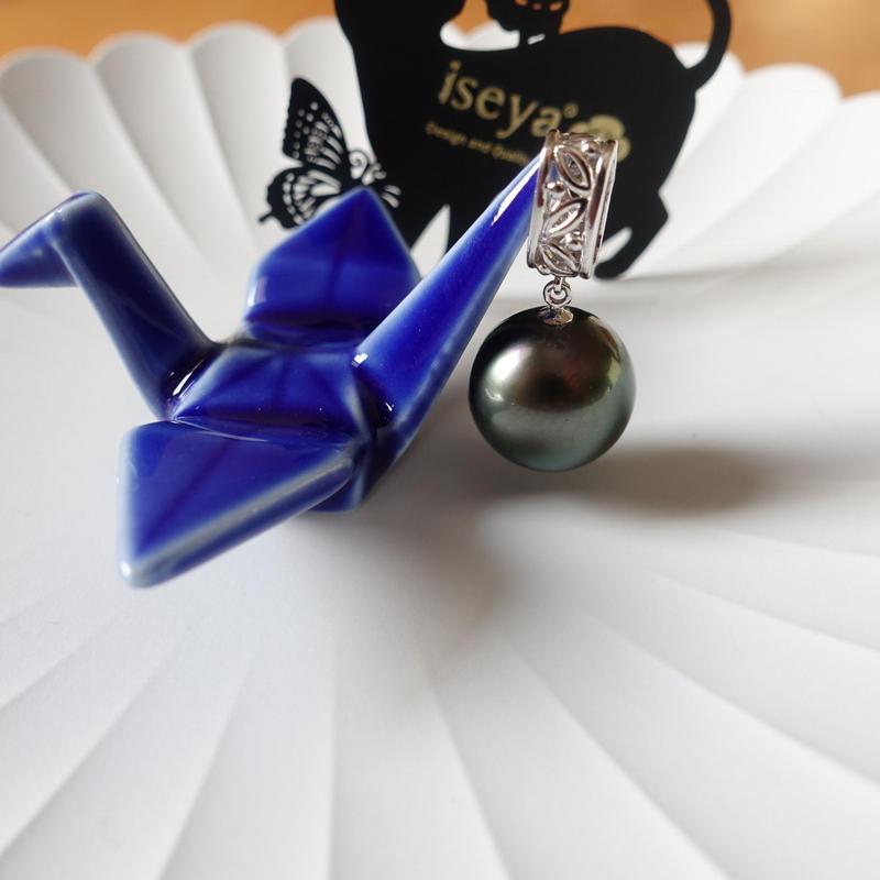 14mm Tahiti Black Pearl Pendant