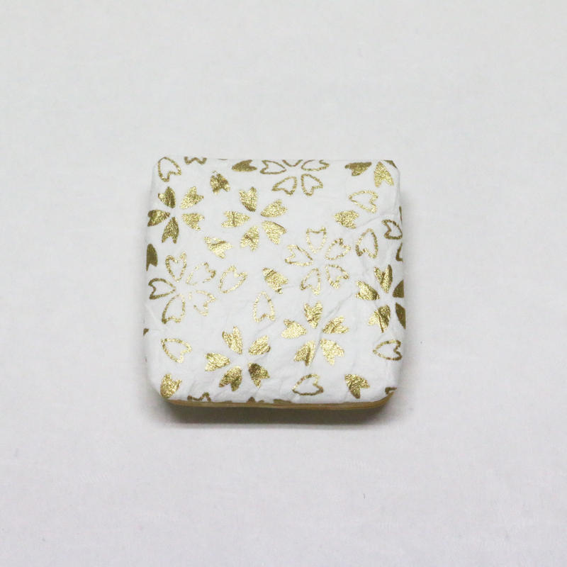 和紙マグネット(角) 白 <shira> 「桜」