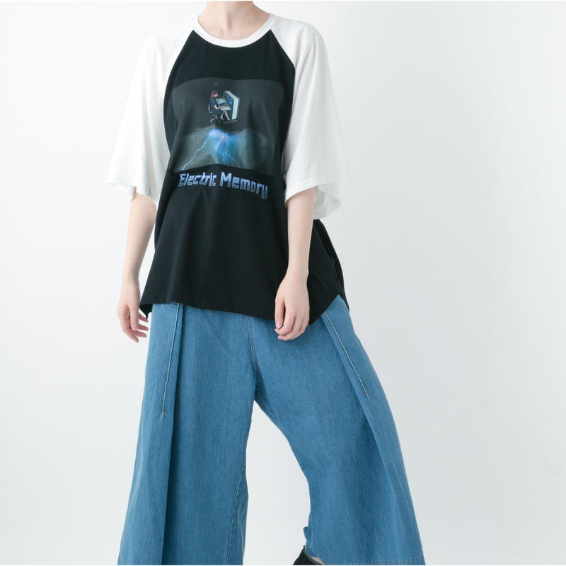 Electric Memoly Raglan T-shirt (WHITE , YELLOW , PURPLE)
