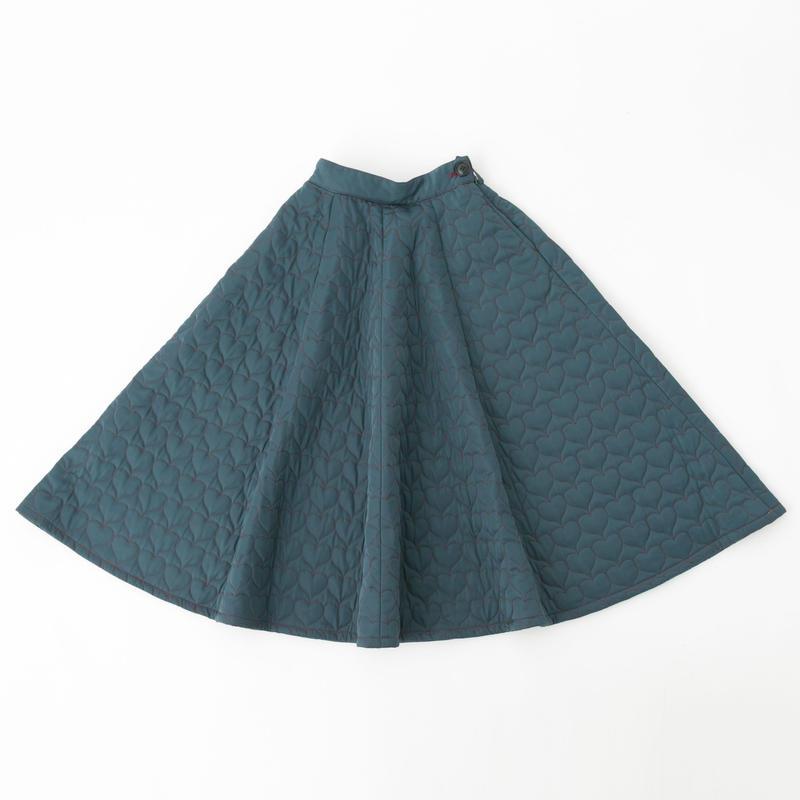 Quilted skirt (dark green)