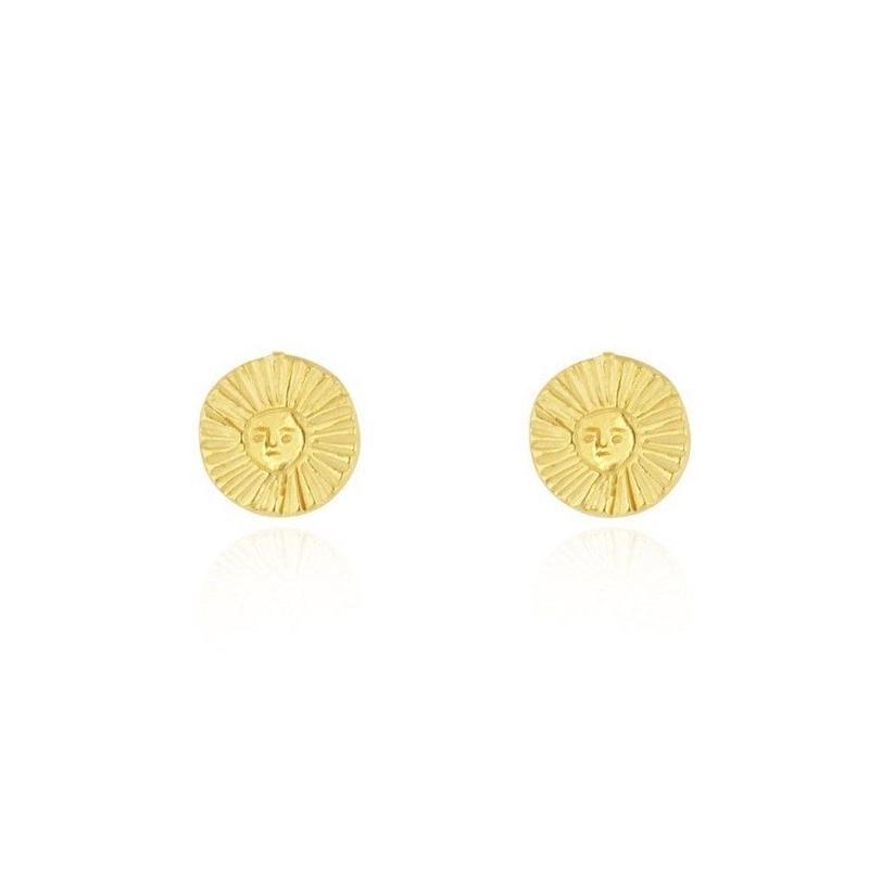 Sun&halo earrings gold x silver (サン&ヘロピアス ゴールド×シルバー)