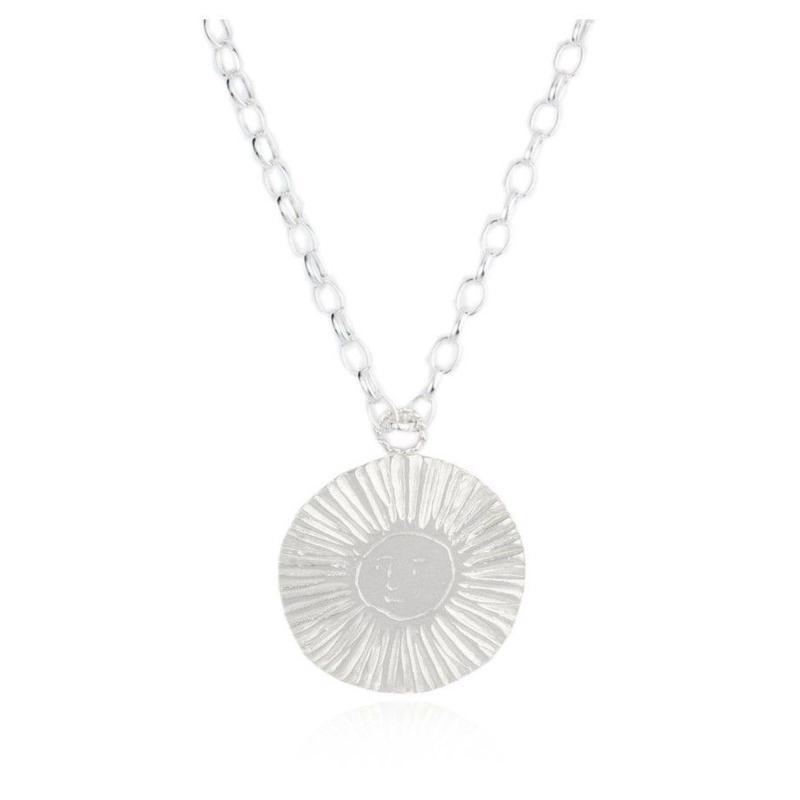 Large Moon & Sun disc Choker Silver (ラージムーン&サン ディスク ネックレス シルバー)