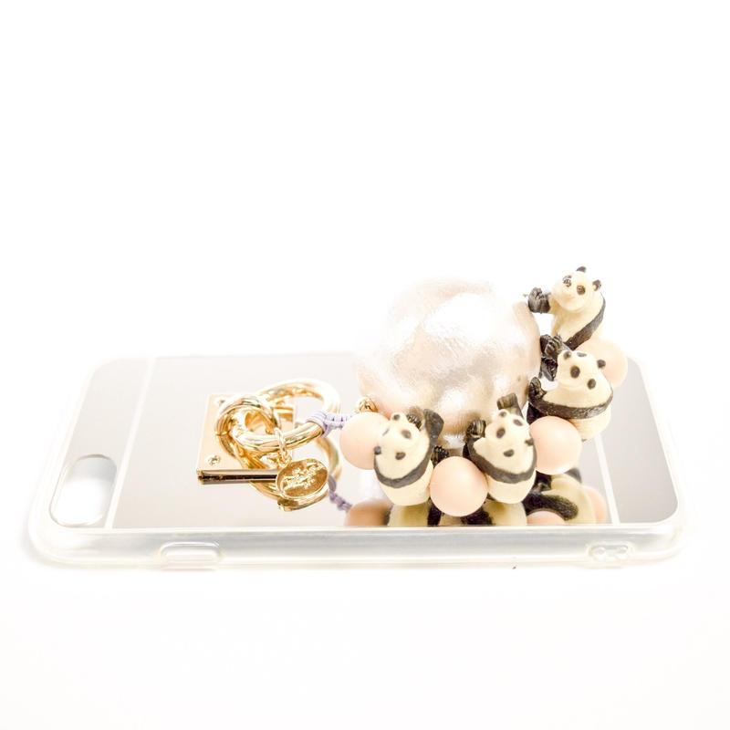 iphoneケース パンダ (ベージュ)