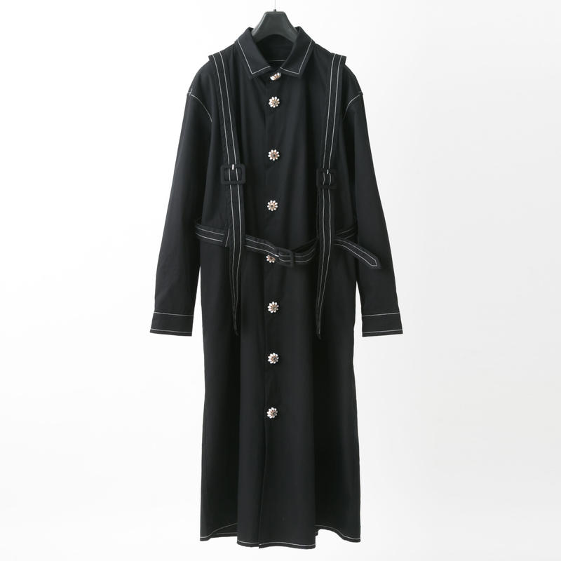 Harness shirt dress (black)