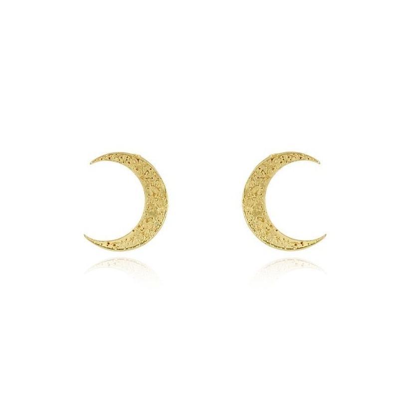 Crescent moon earrings gold vermeil (クレセントピアス ゴールド)